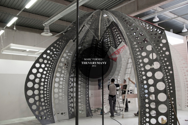 MARC FORNES THEVERYMANY Louis Vuitton Yayoi Kusama world first composite carbon fiber self-supported shell structure architecture