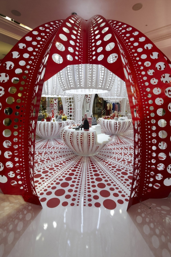MARC FORNES THEVERYMANY LOUIS VUITTON YAYOI KUSAMA Pop Up Store Selfridges London Carbon Fiber Architecture