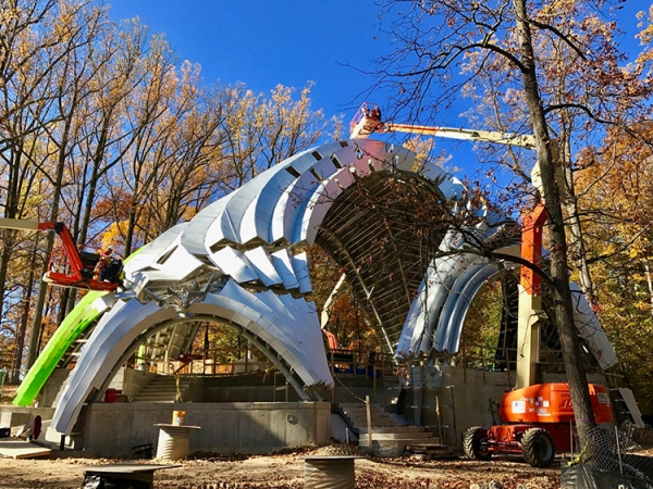 Chrysalis Amphitheater Shell Structure Marc Fornes THEVERYMANY Zahner