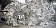 MARC FORNES THEVERYMANY Art Basel Miami Pavilion Aluminum Stripes Rhino GH