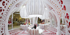MARC FORNES THEVERYMANY LOUIS VUITTON YAYOI KUSAMA Pop Up Selfridges London Carbon Fiber Pavilion Architecture