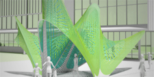 MARC FORNES THEVERYMANY Rhode Island College Public Art Providence Aluminum Pavilion Digital Fabrication GH Python