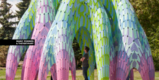 MARC FORNES THEVERYMANY Vaulted Willow Borden Park Edmonton Public Art Lightweight Catenary Inflation GH Python