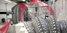 MARC FORNES THEVERYMANY LOUIS VUITTON YAYOI KUSAMA Pop Up Store Selfridges London Carbon Fiber Composite Architecture