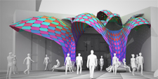 MARC FORNES THEVERYMANY Entry Canopy El Paso Public Art Colors Space Making