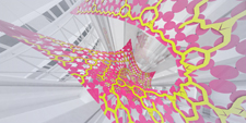 MARC FORNES THEVERYMANY Harmony Of The Seas Royal Caribbean Cruise Ship Art Large Scale Installation Pink Fluorescent